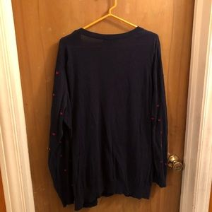 Forever 21 Sweaters - Navy Sweater with Red Hearts